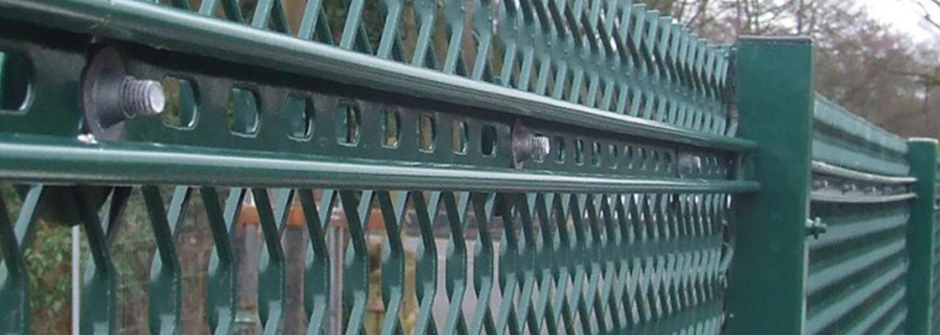 expanded metal fencing slider 1